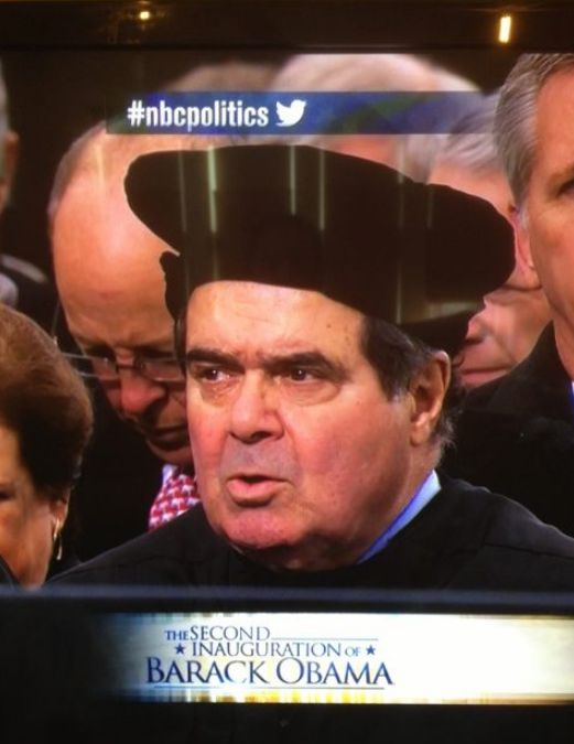 Justice Scalia Wears Saint Thomas More Replica Hat to the Inauguration